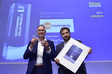 "SUNFarming was honored for the ""SUNFarming Food & Energy Training Project"""