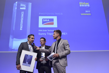 "SMA Solar Technology AG was honored for their product ""Sunny Tripower CORE1"""