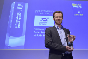 "RAM Pharma was honored for the ""Solar Process Steam Generation at RAM Pharma in Jordan"""
