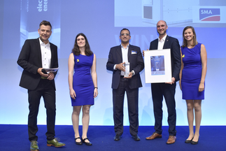 """ees AWARD: SMA Solar Technology AG was honored for """"Sunny Central Storage with grid-forming capabilities"""""""