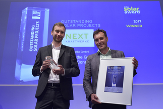 "Next Kraftwerke was honored for their ""Virtual Power Plant for Constant Power Supply"""