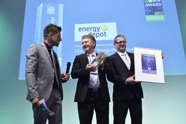"Energy Depot Deutschland GmbH was honored for their product ""CENTURIO Energy Storage System"""